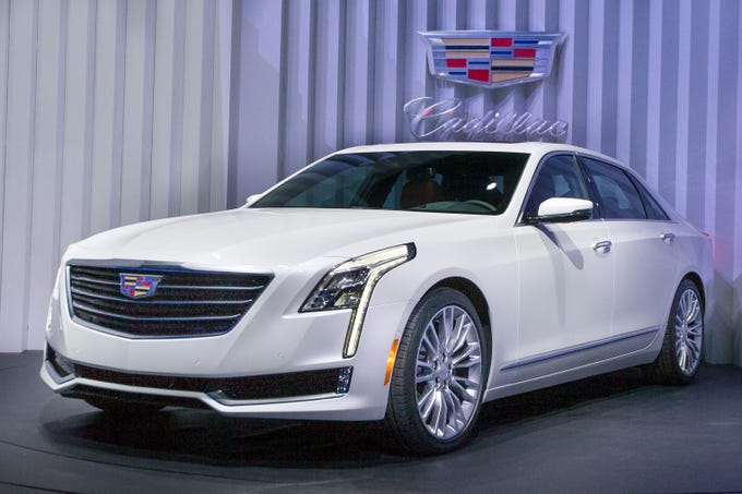 The Cadillac CT6 is shown at the New York International Auto Show event in Duggal Greenhouse, Tuesday, March 31, 2015, in the Brooklyn borough of New York. The luxury car maker will discontinue the CT6 after the 2019 model.