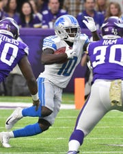 Receiver Brandon Powell had 11 catches for 129 yards this season for the Lions, most of which came in the regular-season finale.