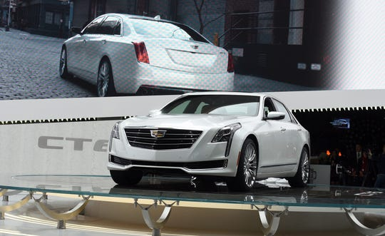The 2016 Cadillac CT6 at the 2015 New York International Auto Show.