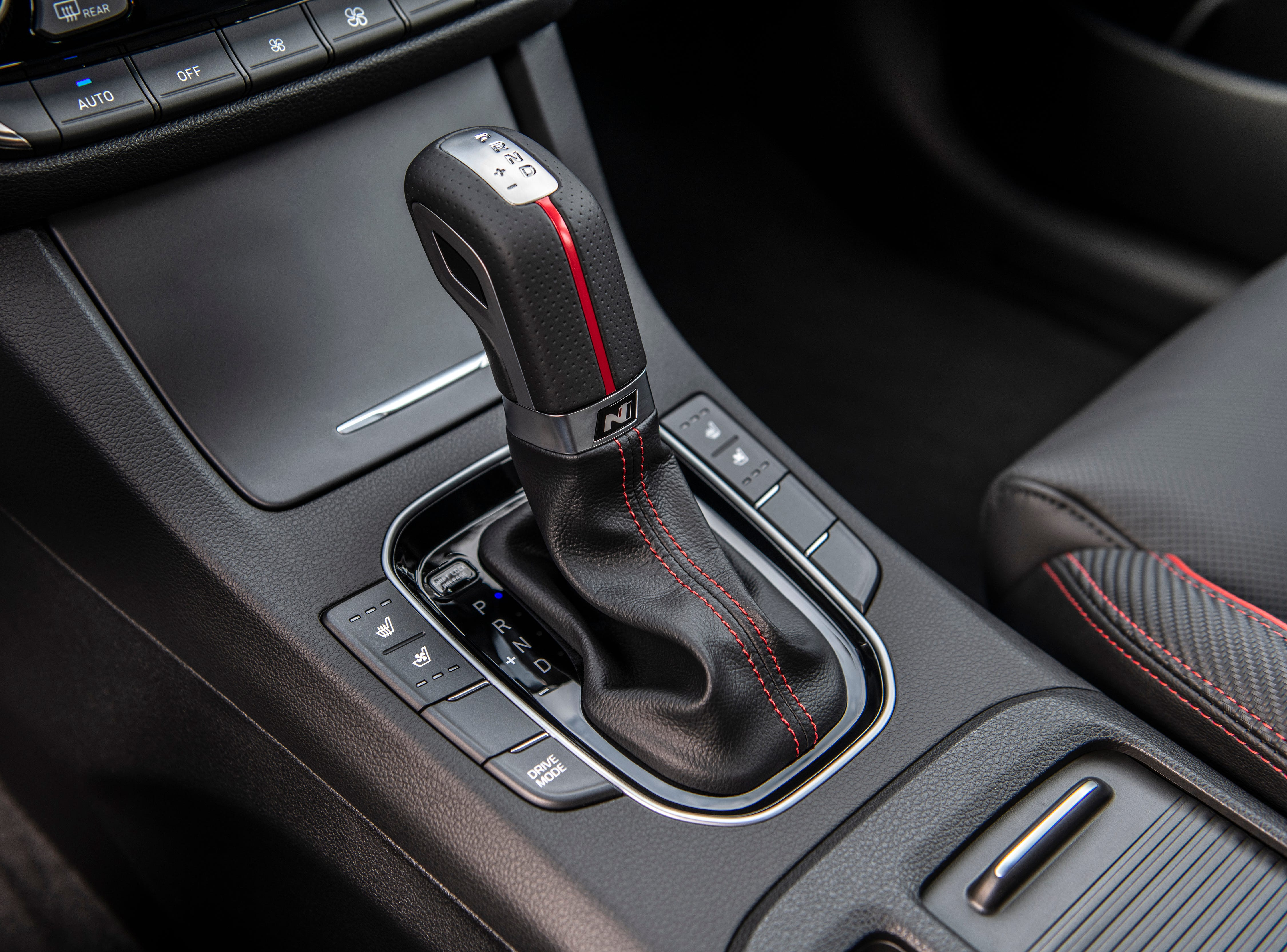 The Elantra GT N Line includes a 1.6-liter turbocharged-GDI engine with six-speed manual transmission or an optional seven-speed DCT with larger steering wheel mounted paddle shifters. This drivetrain produces 201 horsepower and 195 lb.-ft. torque to meet performance and fuel efficiency needs.