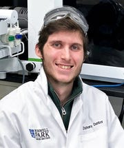 Corning Community College graduate Zach Dunbar is studying the effects of e-cigarettes as part of his Ph.D. program at the University at Buffalo.