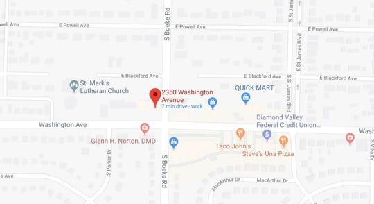 Map of 2350 Washington Ave.