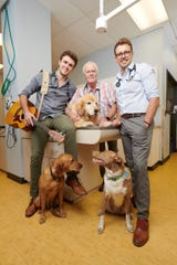 "Littleton veterinarians Ross, Tony and Ryan Henderson (from left to right) will be the center of Animal Planet's new series, ""Hanging With the Hendersons."""