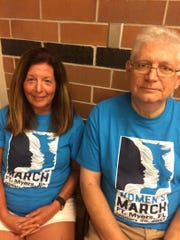 Marian Frane and Frank Fear live in Cape Coral. Frane is steering committee chairand Fear a public relations volunteerof the Women's March, Fort Myers.