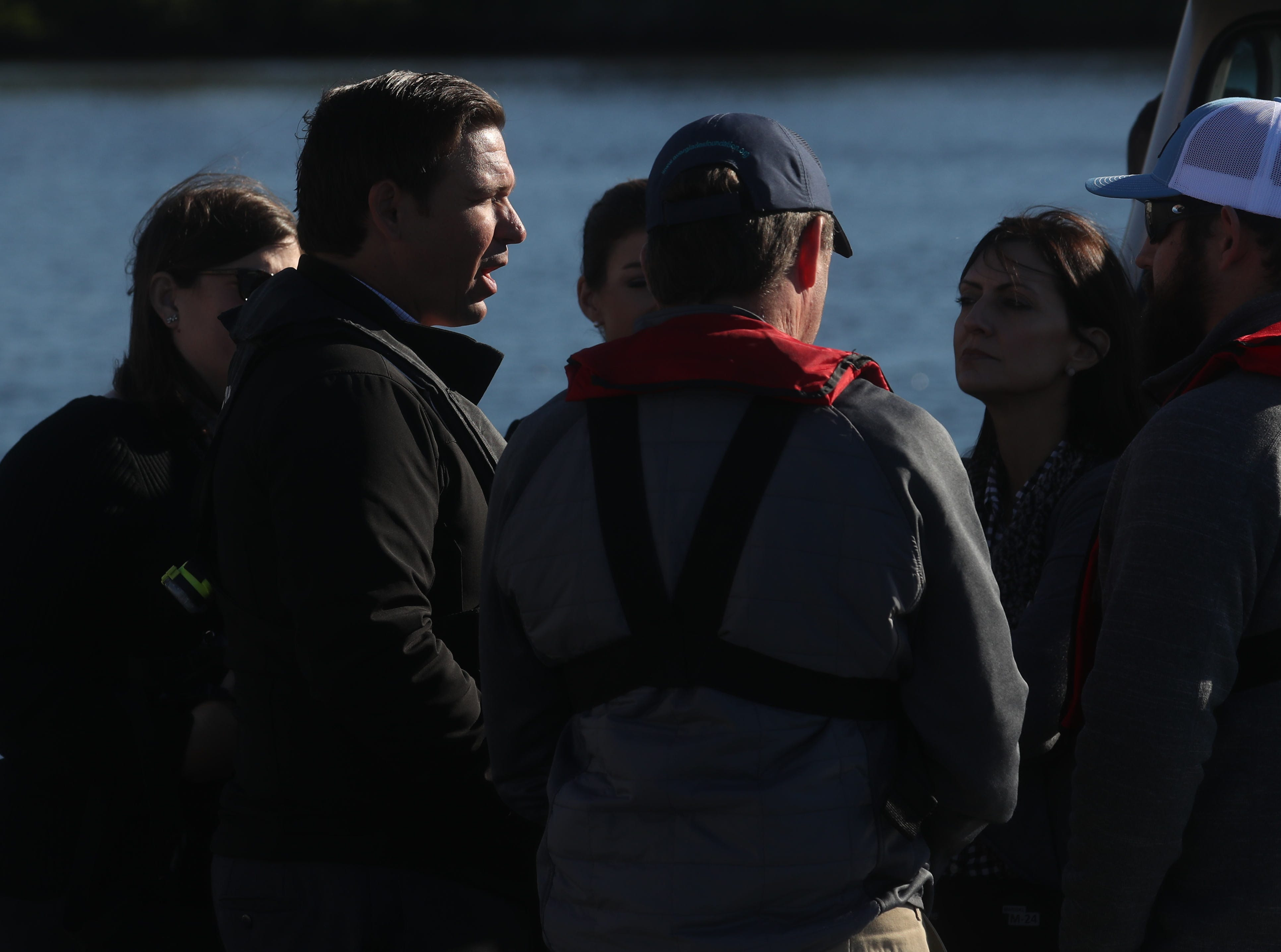 Gov. Ron DeSantis announced a $1 billion increase in water quality spending on Thursday 1/10/2018 at the Florida Gulf Coast University Vester Marine and Environmental Science Research Field Station in Bonita Springs, Fl.