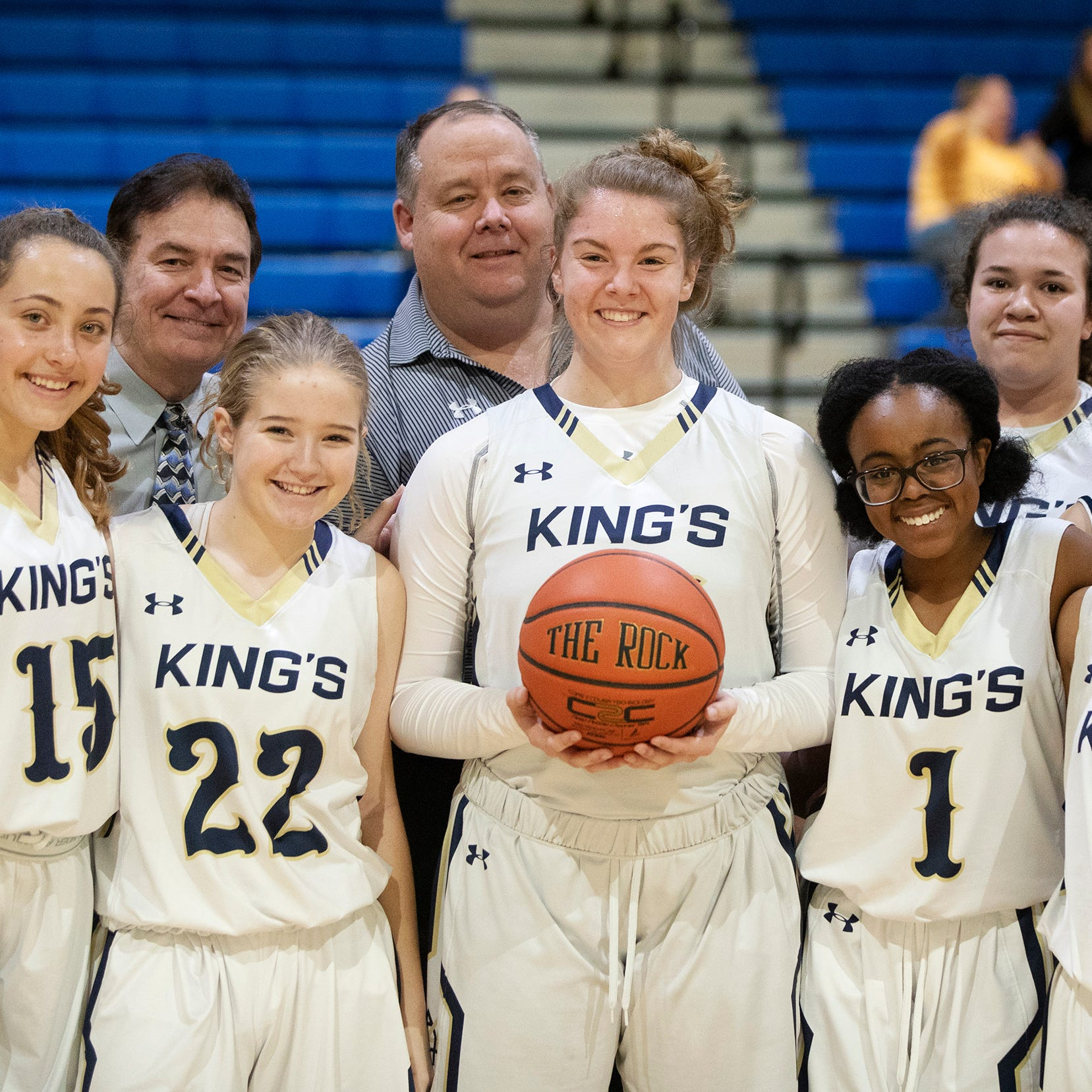 Lee County all-time leading girls basketball scorer Rebekah Bergquist of SFCA passes 2,500 points