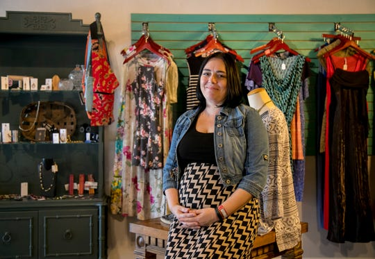 Audra Hill runs the Fig Leaf Boutique, a Fort Myers thrift store started by Into the Jordan Ministries to give love, supplies, hope and job opportunities to women doing sex work or involved in human trafficking.