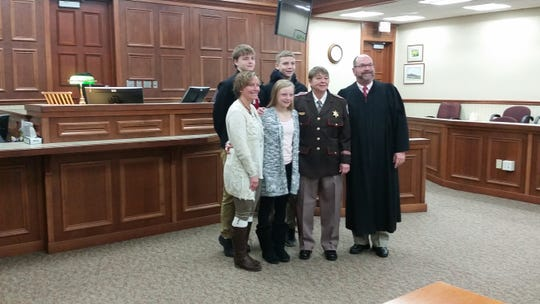 Tammy Sternard was sworn in as Door County's new sheriff by Door County Circuit Judge D. Todd Ehlers on Monday.