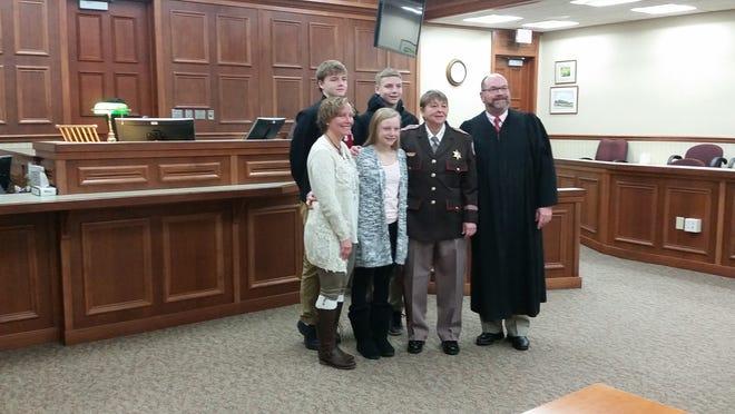 Tammy Sternard was sworn in as Door County's new sheriff by Door County Circuit Judge D. Todd Ehlers on Monday.
