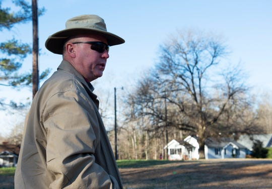 Joe Smith, operations director at Greenville County Redevelopment Authority, on the future site of affordable housing in Slater Mill Village. Photo taken Thursday, Jan. 10, 2019.