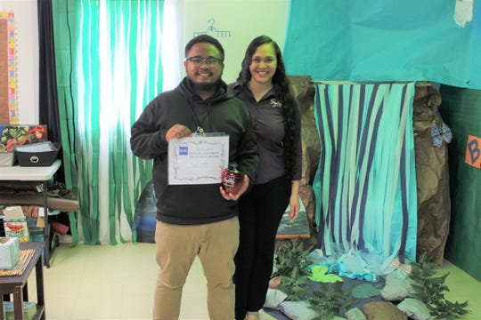 "Congratulations to iLearn Academy Charter School teachers who were voted as favorites by their students through Sylvan Learning Center's ""My Favorite Teacher."" Argie Pamplona and Crystal Nelson Sylvan's director on December 11, 2018."