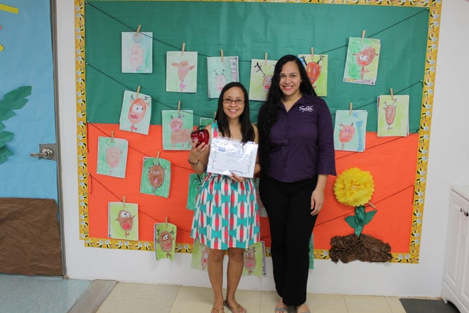 Congratulations to Hazel Eclavea on receiving her My Favorite Teacher award. Pictured with Crystal Nelson on December 11, 2018.
