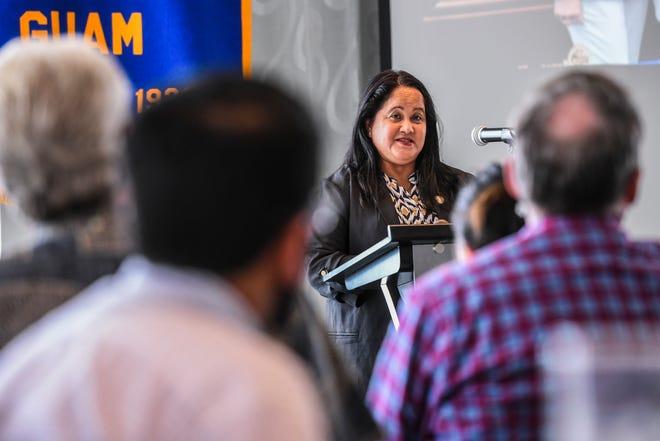 Legislative Speaker Tina Muna Barnes address members of the Rotary Club of Guam during the regular luncheon meeting at the Outrigger Guam Beach Resort in Tumon on Thursday, Jan. 10, 2019.