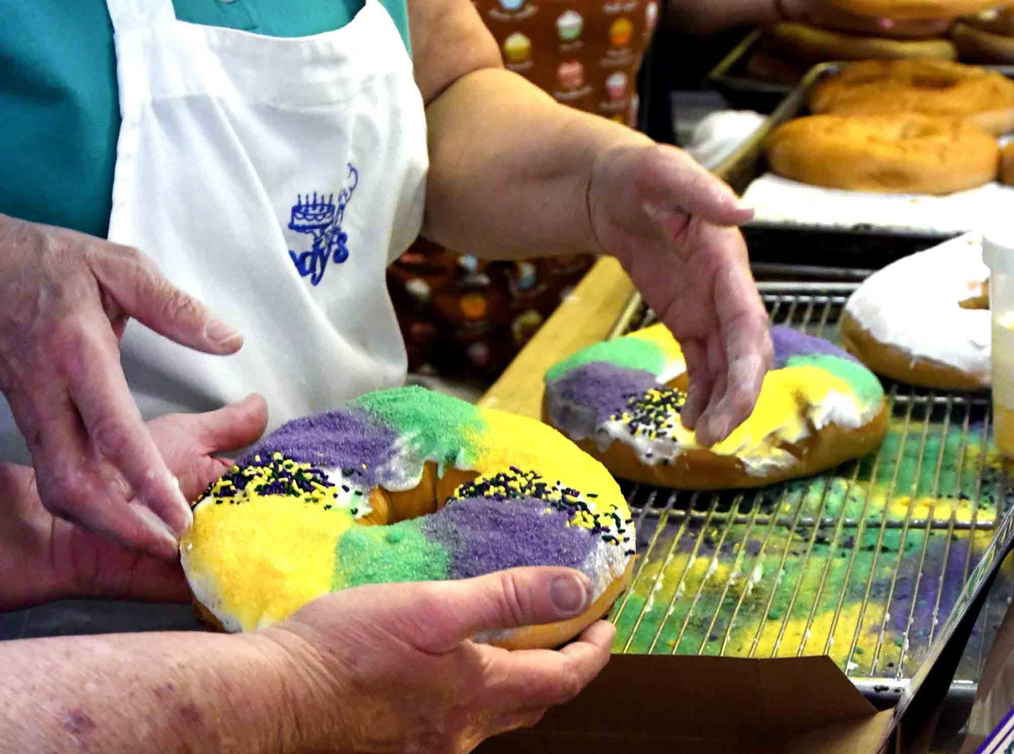 Jody's Bakery makes around 15 different flavors of king cakes during the Mardi Gras season. They can be found at Keith's Superstore, Strick's BBQ and Pier 98.