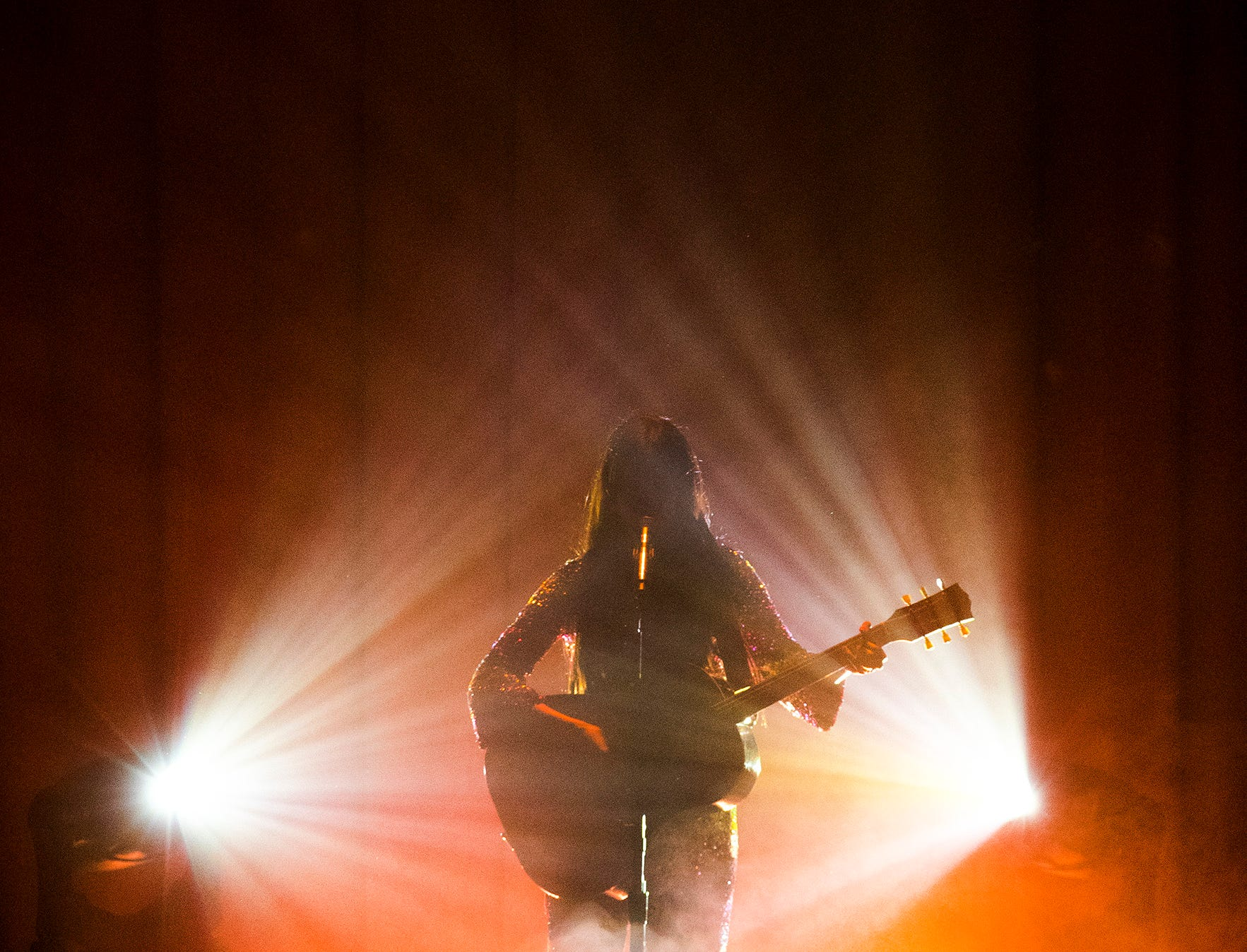 Kacey Musgraves performs for a sold out crowd at the Murat Theatre in Old National Centre on Wednesday, Jan. 9, 2019.