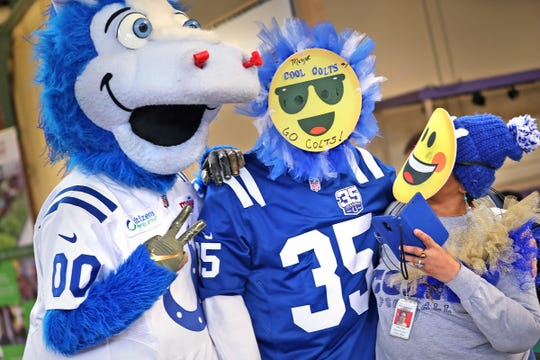 Colts mascot Blue was recently named toe Mascot Hall of Fame Class of 2020.