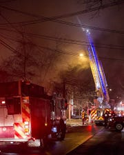The Ithaca and Newfield fire departments battled a fire in Ithaca's Fall Creek neighborhood Wednesday night.
