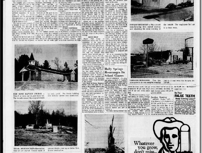The Clarion Ledger in January 1970 wrote about the anniversary of a tornado in Hazlehurst that killed dozens of people on January 23, 1969.