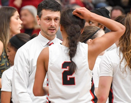 Union University's head women's basketball coach Mark Campbell.