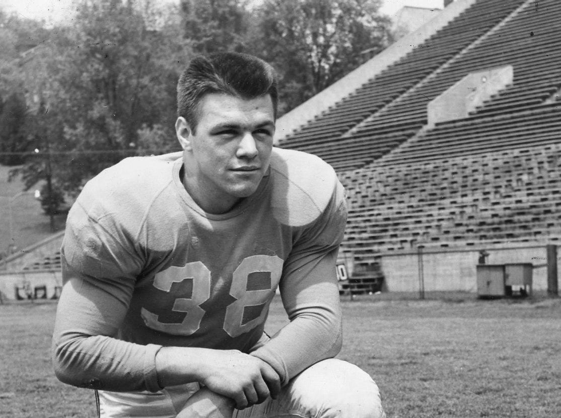 John Michels at the University of Tennessee as a junior in 1951.