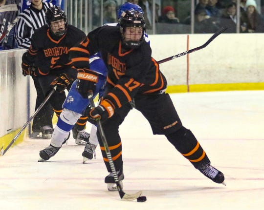 Lars Erkkila scored one of Brighton's goals in a 4-1 victory over Canton Wednesday night.