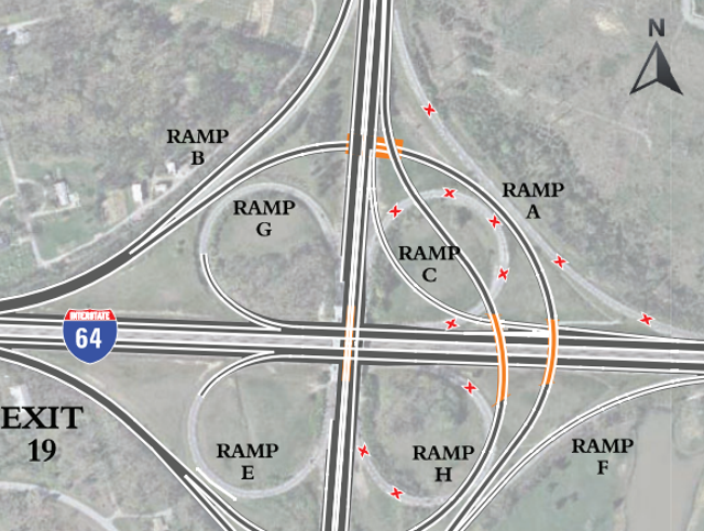 Gene Snyder interchange with I-64 in Louisville to be fixed