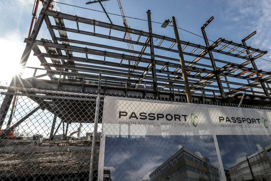 The Passport headquarters under construction near 18th Street and Broadway. Jan 10, 2019