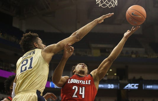 Ncaa Basketball Louisville At Pittsburgh