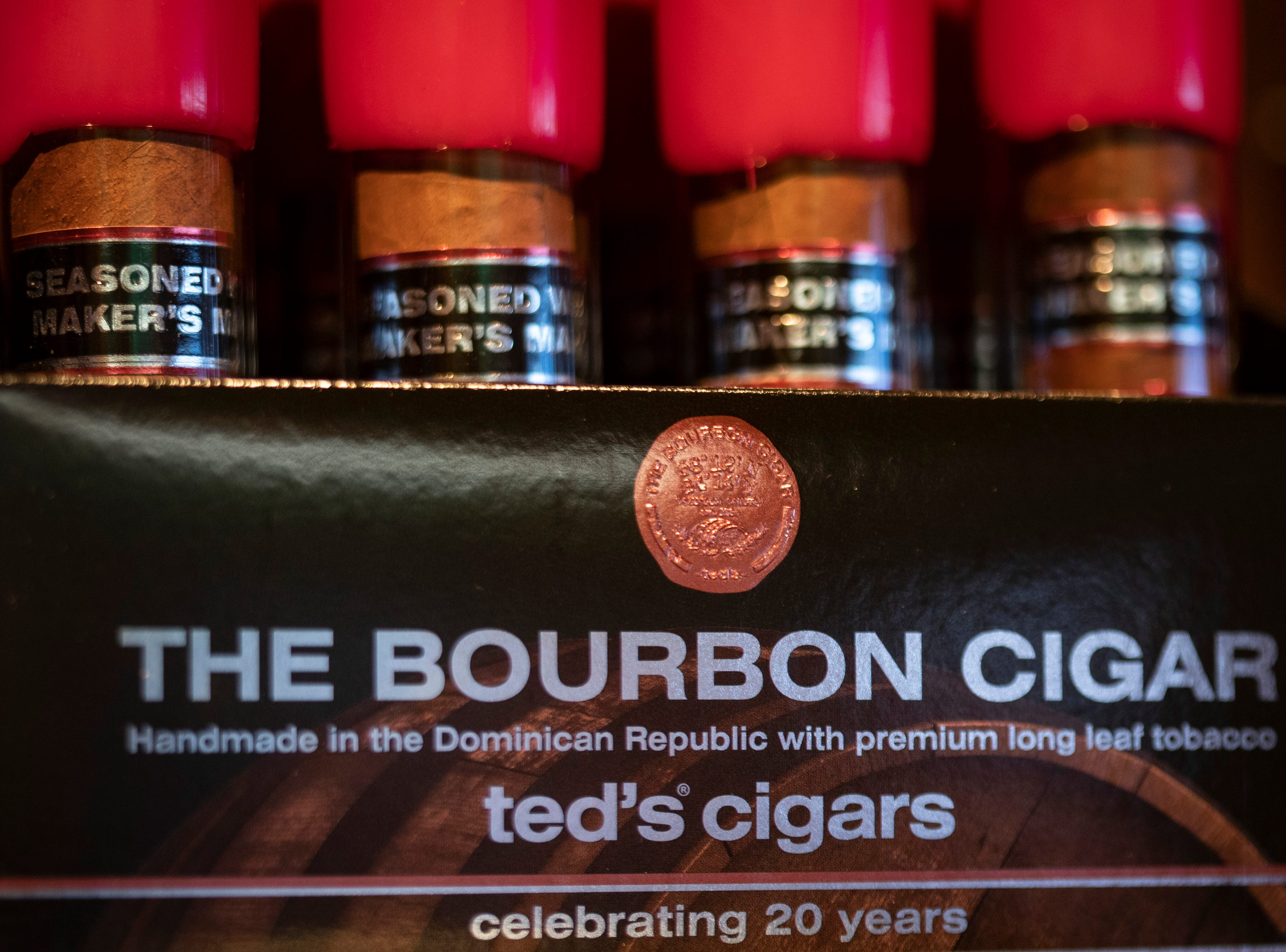 """Ted Jackson owns Ted's Cigars, a small Louisville company that specializes in cigar sales and has had a working relationship with Maker's Mark for over 20 years. """"It started at a Derby party at Bill Samuels' house,"""" Jackson said of a past president of the company. Jackson states that Samuels wanted a Maker's Mark cigar made and soon Jackson and his team created a proprietary flavoring method using the bourbon. The relationship has included chocolates and even Jackson running a Maker's Mark store in Oxmoor Mall. Jan. 10, 2019"""