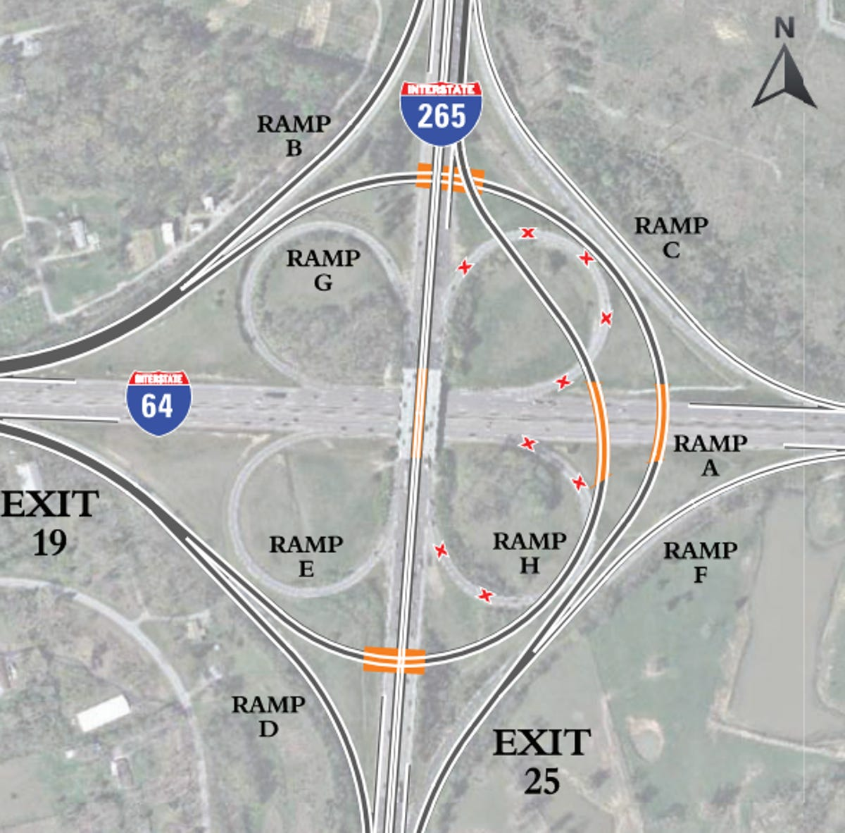 Gene Snyder interchange with I-64 in Louisville to be fixed on kentucky outline map, bourbon old map, ohio county map, united states map, kentucky interstate map, kentucky park map, interactive kentucky map, kentucky street map, kentucky vegetation map, kentucky drainage map, murray sea map, kentucky flash, kentucky railway map, kentucky county map, kentucky trail map, kentucky lake map, kentucky transport map, ohio kentucky tennessee map, 4th grade tennessee map, kentucky travel map,
