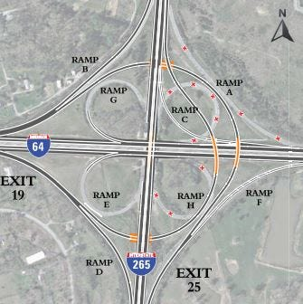 New design selected for notoriously dangerous Gene Snyder, I-64 interchange