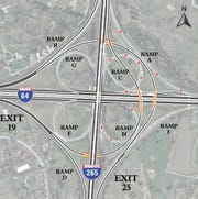 "The Kentucky Transportation Cabinet has chosen the ""partial turbine design with a braided ramp"" for the reconstruction of the notoriously busy and dangerous Gene Snyder Freeway interchange with I-64."