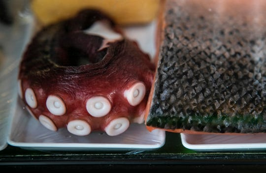 Wild Ginger at 1700 Bardstown Road in the Highlands offers sushi made from fresh ingredients such as octopus, salmon, crab and shrimp. January 10, 2019.
