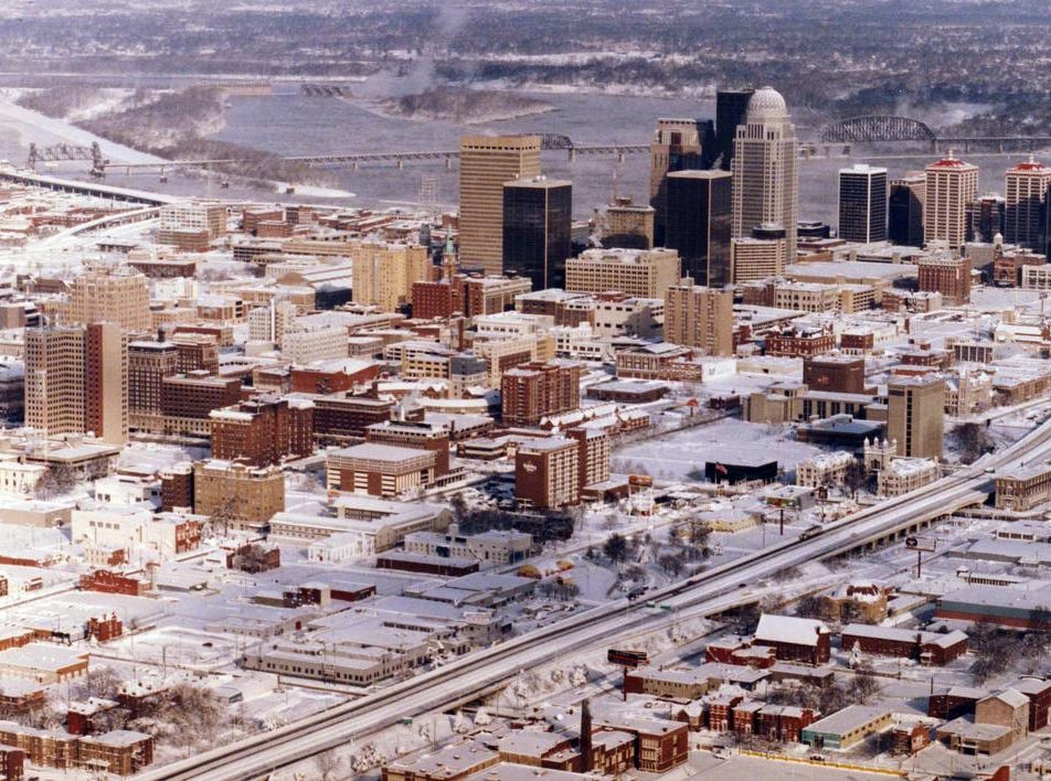 View of Louisville after the 1994 snow.