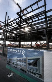 Passport Health's new headquarters is under construction in western Louisville.