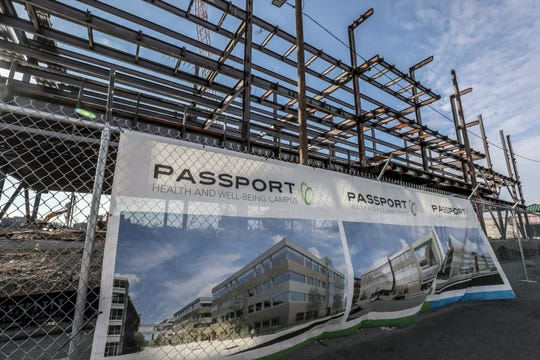 Passport Health's new headquarters is under construction in western Louisville. Jan. 10, 2019