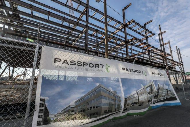 Passport Health's new headquarters is under construction in western Louisville. Jan. 10, 2019