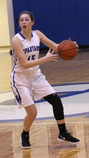 St. Peter's Julia Rizzo moves the ball while playing against Mount Gilead on Wednesday.
