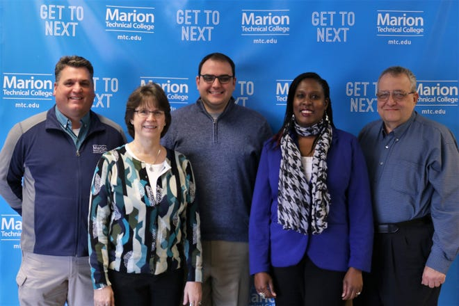 From left, are Greg Perry, Lori Barr, Tyler Maley, Primrose Igonor, and Duane Gerstenberger.