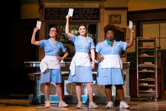 "Order up! Jessie Shelton, Christine Dwyer and Maiesha McQueen star in ""Waitress,"" Jan. 15-20 at The Orpheum."