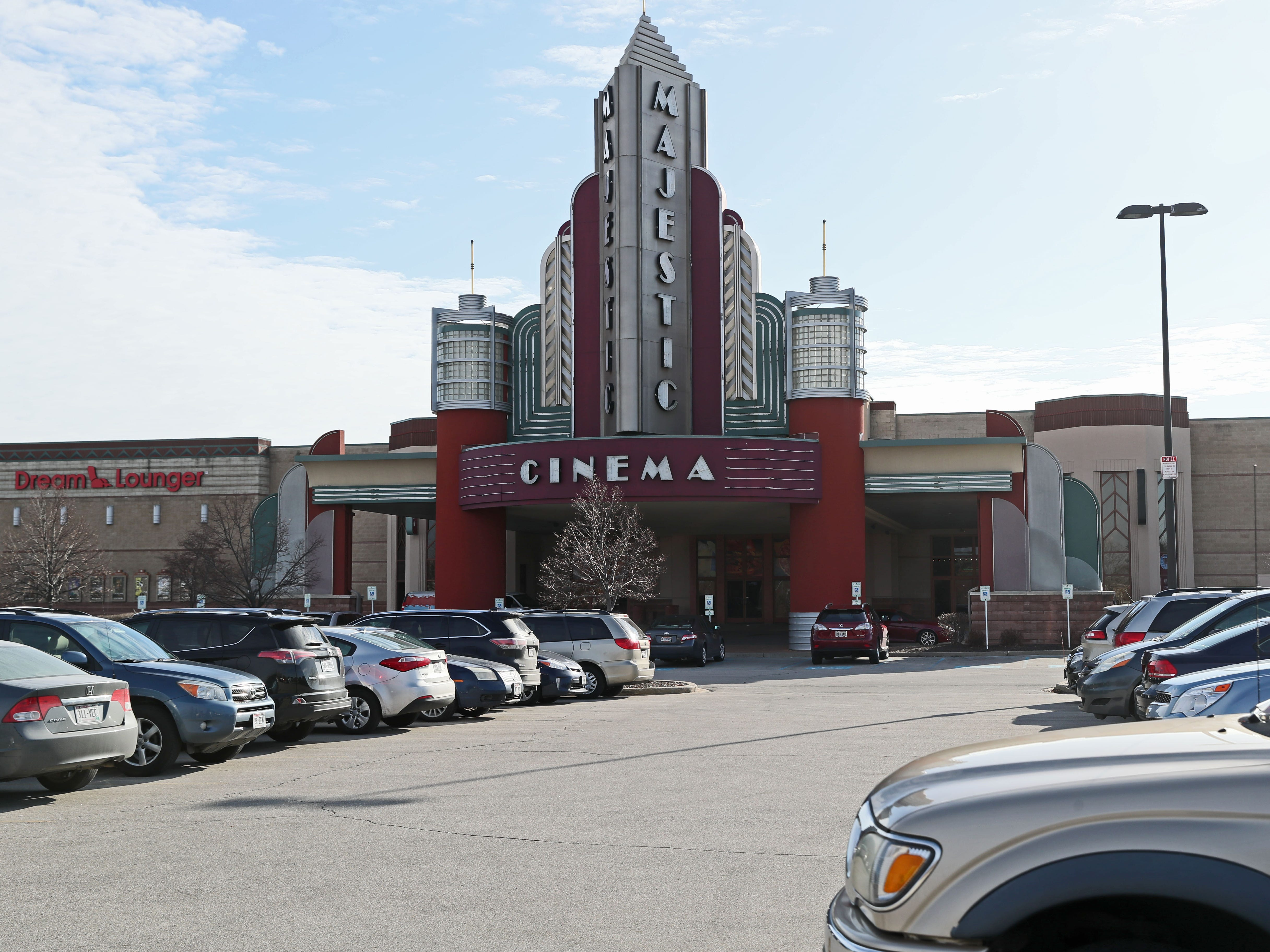 The parking lot at the Marcus Majestic Cinema, 770 Springdale Road in Brookfield.