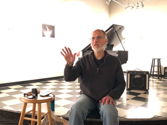 Samir Moukaddam, who was trained as a mindfulness facilitator at the University of California, Los Angeles, regularly leads a meditation practice at the Jazz Gallery in Milwaukee.