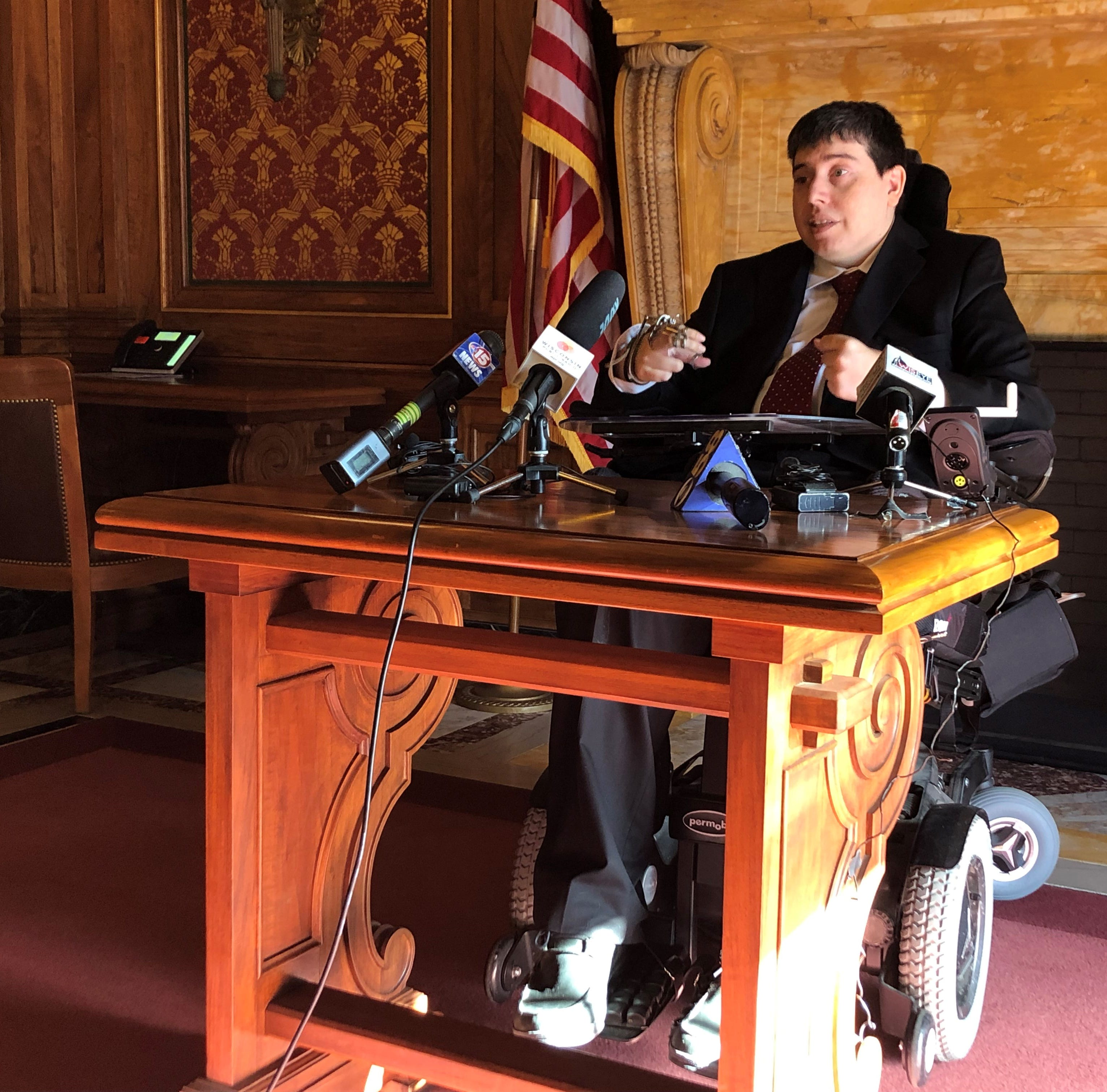 Wisconsin lawmaker who is paralyzed says GOP violated meetings law by not accommodating disability in lame-duck vote