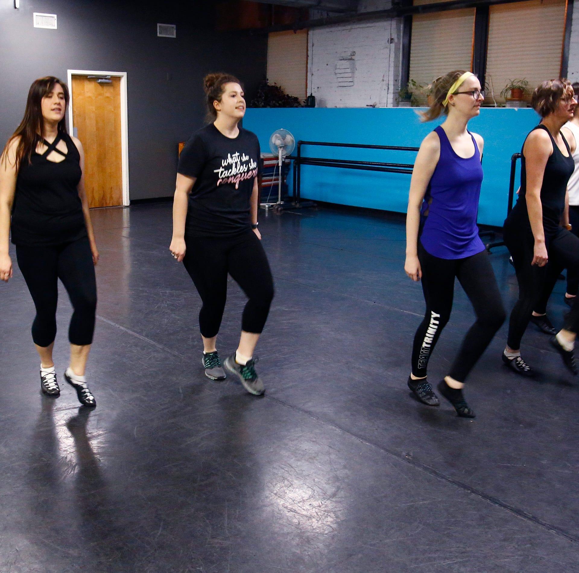 Members of the Milwaukee Irish Dance Company...