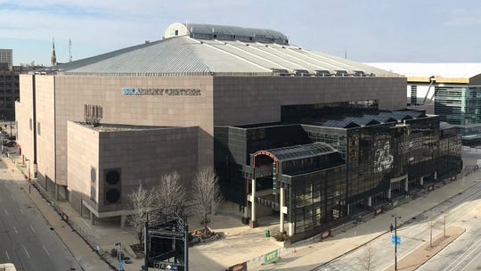 The massive steel roof of the Bradley Center will be dislodged by explosives Sunday morning. Plans call for the roof to tumble into the seating bowl.