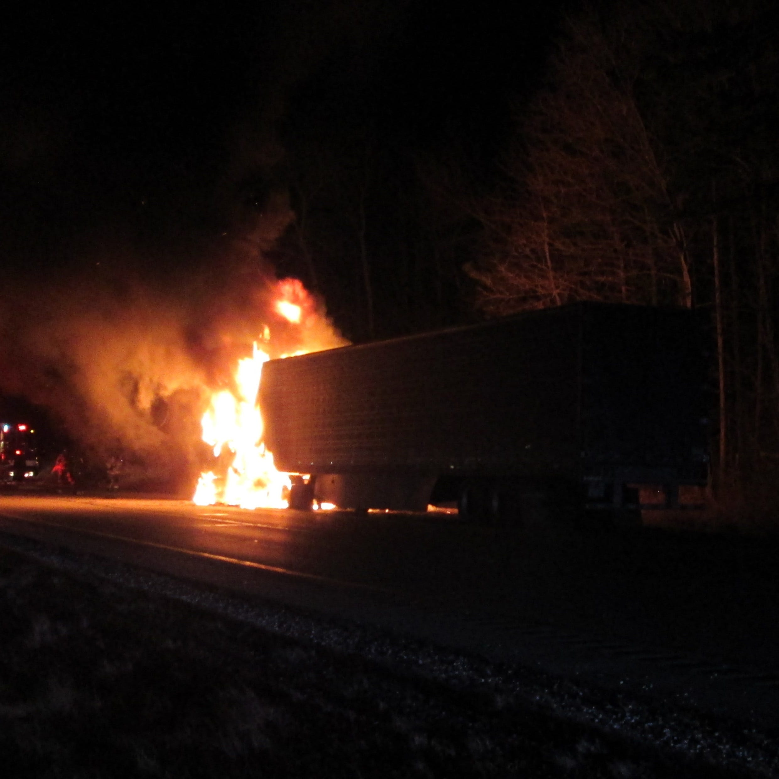 Cheese truck fire closed I-43 near Mequon for a half-hour