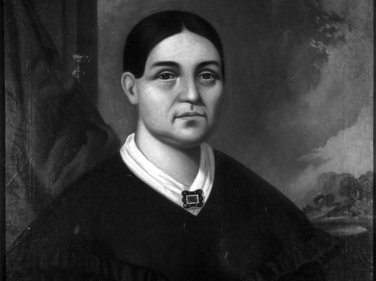 WIFE OF SOLOMON JUNEAU - Painting by Geo. P.A. Healy.