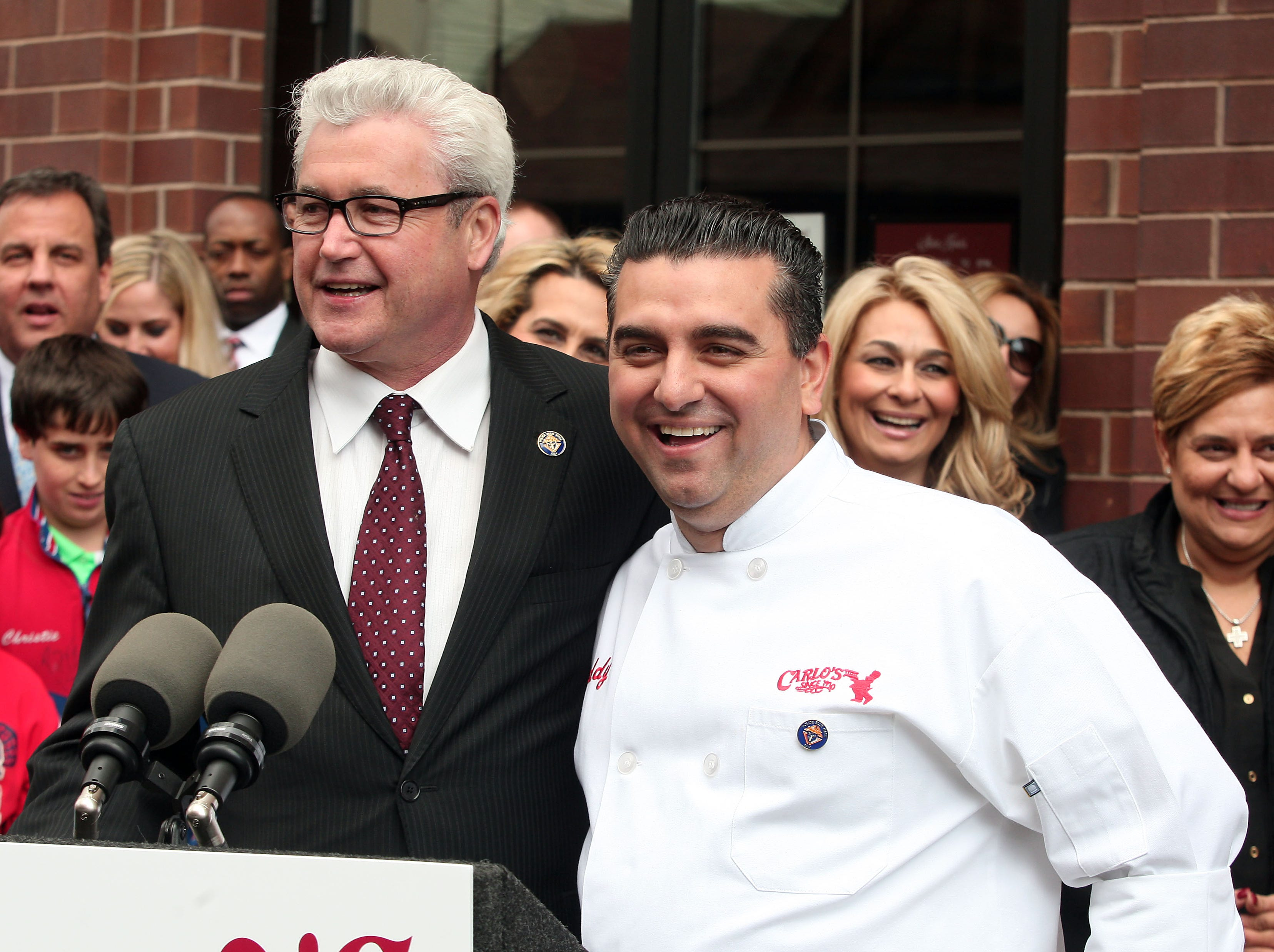 Cake Boss, Buddy Valastro opens his newest Carlo's Bakery in Morristown. The Grand Opening was attended by New Jersey Governor Chris Christie as well as other dignitaries. March 20, 2014, Morristown, NJ. Bob Karp/staff photographer