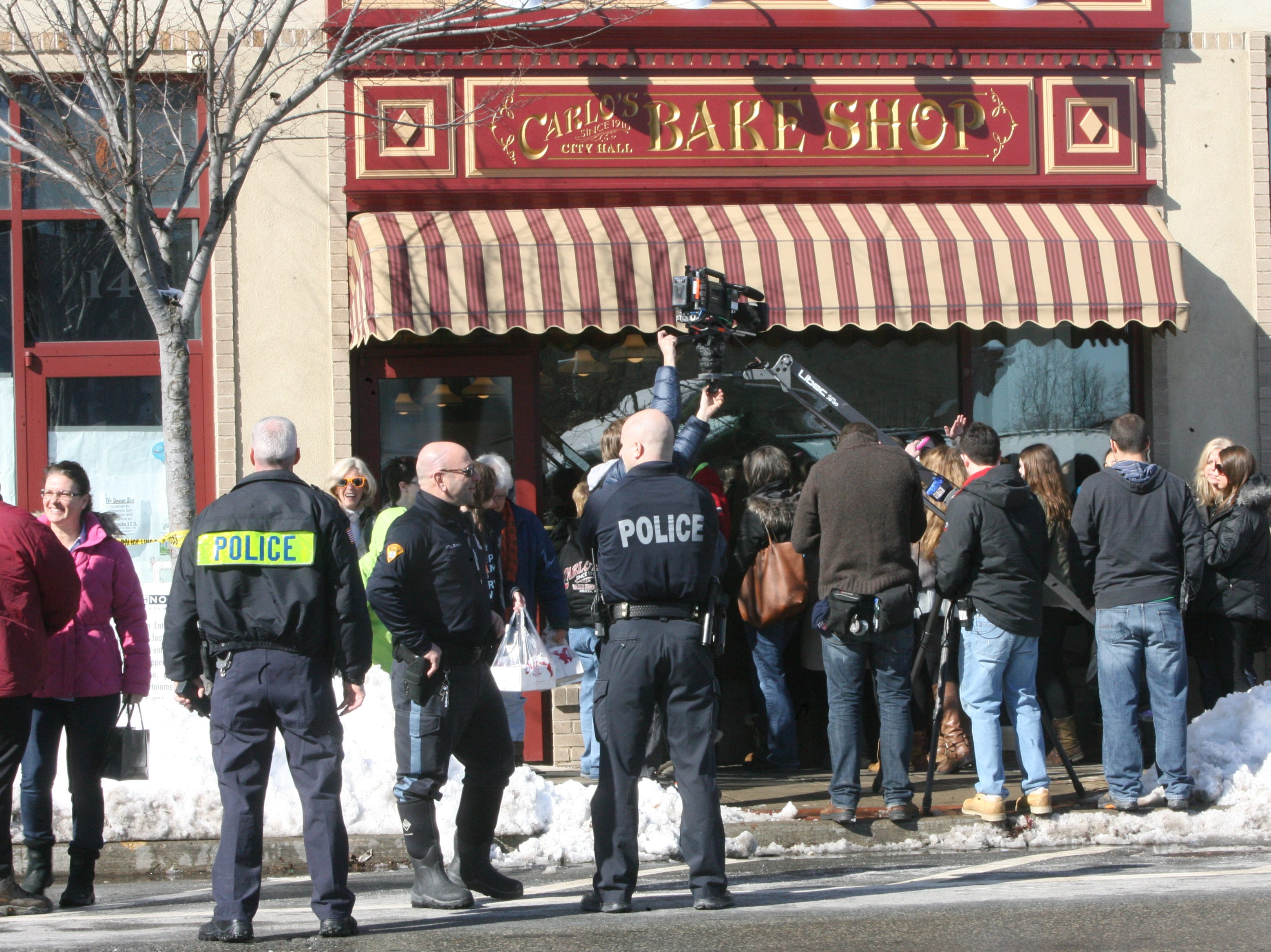 The grand opening of a new Carlos Bakery, as seen in the reality show Cake Boss, opened in Ridgewood, December 2013.