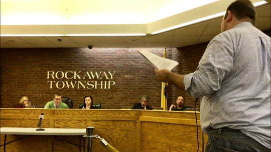 John Schmidt, vice president of the New Jersey Foundation For Open Government, addresses the Rockaway Township Council advising leaders that they are falling short of open government guidelines.